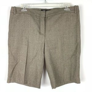 BCBGMaxAzria Meg Bermuda wool shorts taupe brown